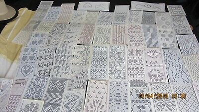 Mixed Knitting Machine Punchcards Job Lot 76+ For 24 Stitch Machines
