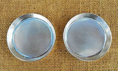 Matching Pair Of Heavy Gauge Solid Silver Pin Trays - Coasters - London 1938