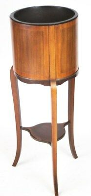 Antique  Sheraton Inlaid Mahogany Jardiniere Plant Stand -FREE Delivery [PL4322]