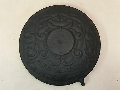 Antique Cast Iron Stove Door Bowes Jamieson & Co. Hamilton Ont. Ornate Round