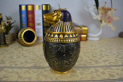 Ancient Egyptian Canopic Jar Hapi (Papio) Egypt Religion Vintage ABS Decoration