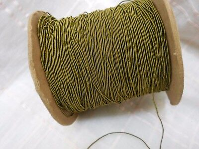 3 yd ANTIQUE SILK RATTAIL SOUTACHE  tiny 1/16 in. gorgeous  olive green  trim