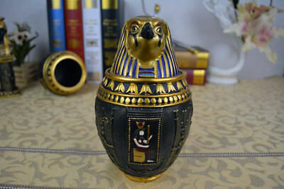 Ancient Egyptian Pyramid Canopic Jar Qebshenuf (Eagle) Vintage ABS Decoration