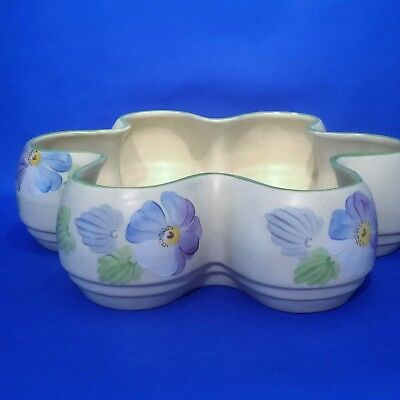 Grays Pottery Planter Pot - Vintage & Rare 6 bay Petal Shaped c1938 (A5265)