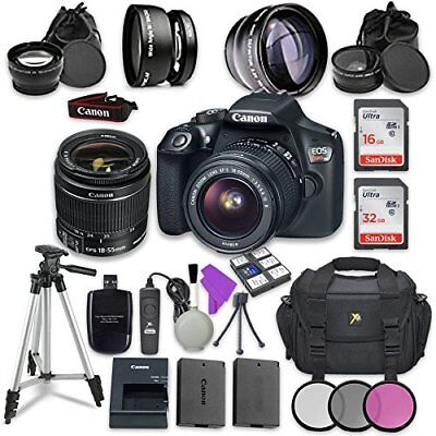 Canon EOS Rebel T6 DSLR Camera with Canon EF-S 18-55mm Lens +Accessory Bundle