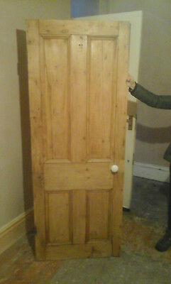 internal Antique Reclaimed 4 Panel Pine Door