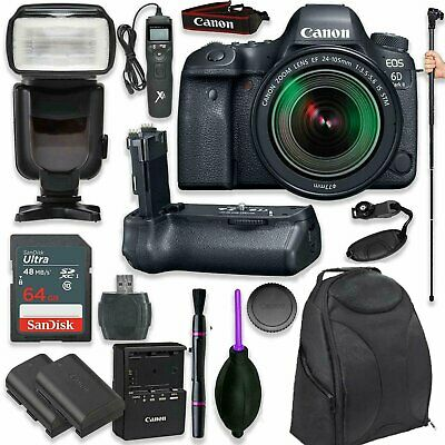 Canon EOS 6D Mark II DSLR with EF 24-105mm f/3.5-5.6 IS STM Lens + (17 items)