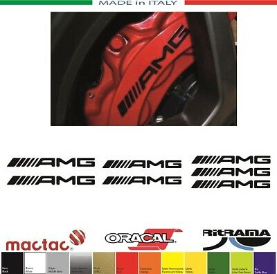 Kit 7 Adesivi Pinze Freno Brake Caliper Amg 1 Mercedes Sticker Decals Aufkleber
