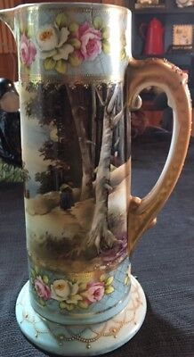 Royal Nippon Large Pitcher - Hand Painted - Beautiful