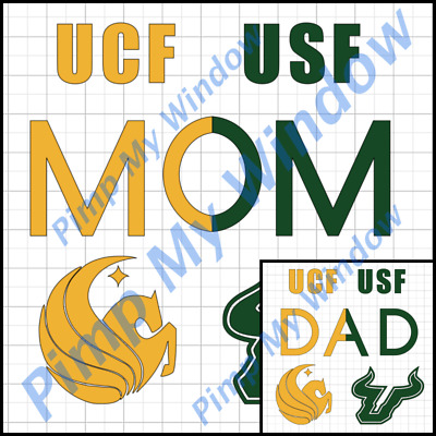 USF UCF University of South Central Florida Mom Dad Window Vinyl Car Decal