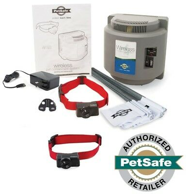 PetSafe Two Dog Wireless Fence Containment System PIF-300 10 Batteries Included