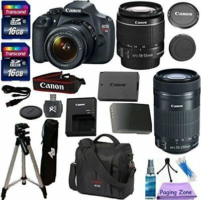 Canon EOS Rebel T5 Camera with EF-S 18-55mm Lens with Canon 55-250mm Lens