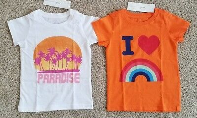 PEEK~Little Peanut ~ Baby Girls Tee Shirt Lot ~ Sz 18-24m ~ NWT
