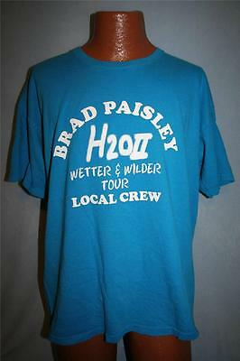 BRAD PAISLEY H2O II Wetter & Wilder Concert Tour CREW ONLY T-SHIRT XL Country