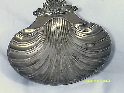 """Footed Silver Plated SHELL DISH 6' x 5""""-Reproduction of Design SHEFFIELD ENGLAND"""
