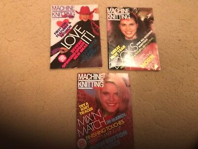 Machine Knitting Monthly - 3 issues from 1989 - Good Condition