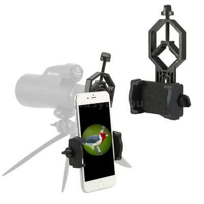 Universal Spotting Scope Telescope Mount Holder Camera Mobile Phone Adapter W9F9
