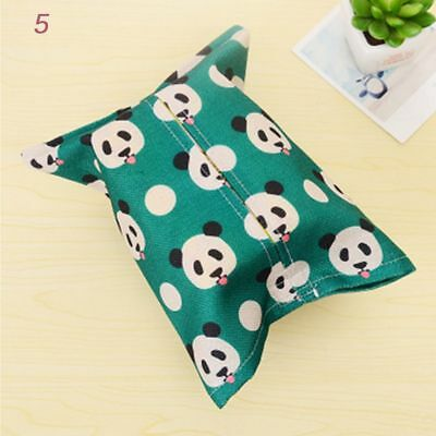 Boxes Fabric Removable Office Cute Paper Box Linen Animal Tissue Cartoon