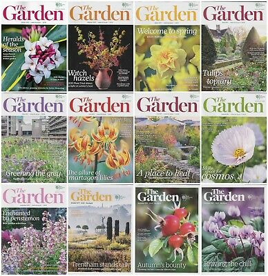 12 Issues RHS Royal Horticultural Society The Garden Magazine Complete Year 2017