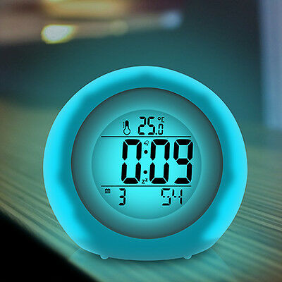 LCD Display Digital Alarm Clock Home Bedside Table Clock with Speaker Travel