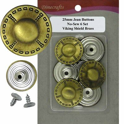 25 mm No-Sew Replacement Jean Tack Buttons w//Tool 6 CT. A6330