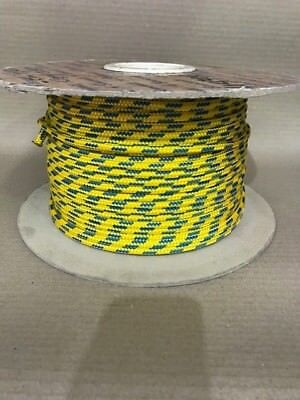6mm DYNEEMA / POLYESTER SK75 MARINE YACHTING / SAILING ROPE - 110m  Yellow /Blue