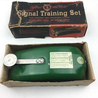 Vintage Official BOY SCOUT 3-Way SIGNAL TRAINING Set IN BOX No. 1092 Morse Code