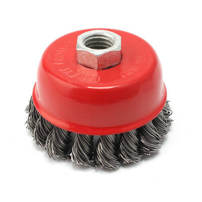 Knot Wire Cup Brush M14 x 2 FINE For Angle Grinders Knotted Wheel 75mm