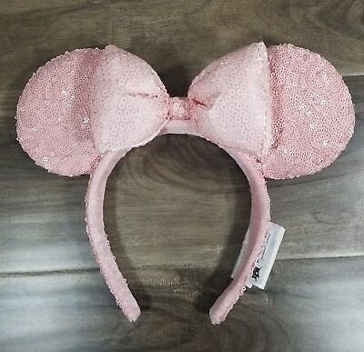 New Disneyland Disney Minnie Mouse Millenial Pink Ears Bow Headband LIMITED