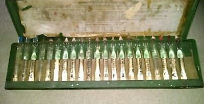 Vintage Gardner Bubble Viscometer set(sold as shown) A to T ?