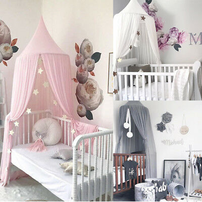 AU  Baby Bed Canopy Bedcover Mosquito Net Curtain Bedding Dome Tent Room Decor