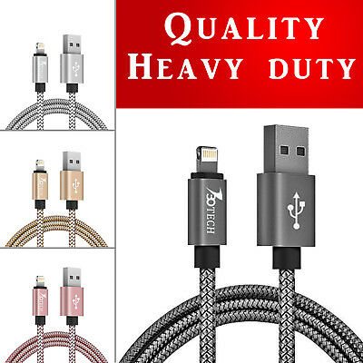 730TECH 3/6/10FT Nylon Braided Heavy Duty Lightning Cord For Apple iPads iPhones