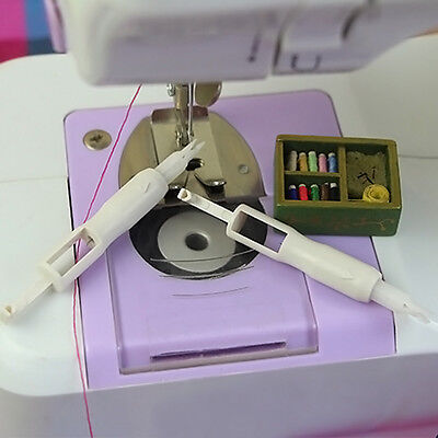 Needle Sewing Threader Insertion Tool Applicator For Sewing Machine Overlockers#