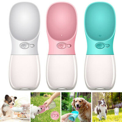 Portable Pet Dog Puppy Water Travel Bottle Lick And Flow Feeding Drinking Bowl S