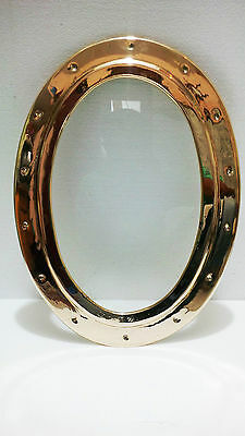 "porthole SHIP BOAT BRASS OVAL PORTHOLE WINDOW SIZE-19""x14""inch WGT- 5KG"