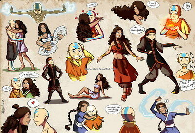 """149 Avatar The Last Airbender - Aang Fight Japan Anime 20""""x14"""" Poster"""