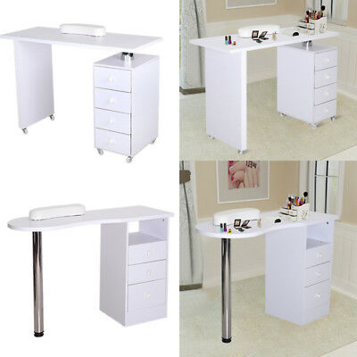Manicure Equipm Nail Table Station Bar Desk Beauty Salon 4 Drawers Storage Stand