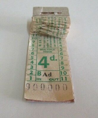 Melbourne & Metropolitan Tramways Board - Fourpence Tram Ticket Pad - 1960s
