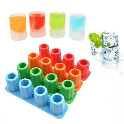 ice tool Schnapsglas Freeze Shooters Mould Maker Silikon Tablett Party Cu Gift