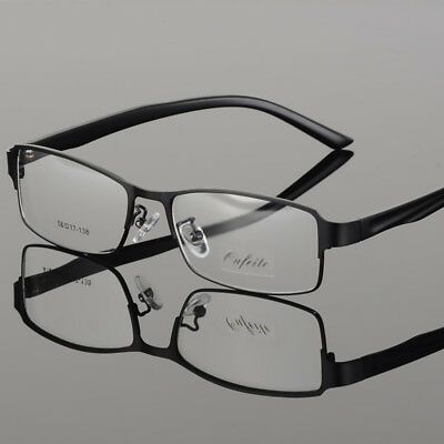 New Metal Eyeglass Frames Business Men's Full Rim Myopia Eyewear Frame RX able