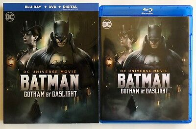 Dc Comics Batman Gotham By Gaslight Blu Ray Dvd 2 Disc Set + Slipcover Sleeve