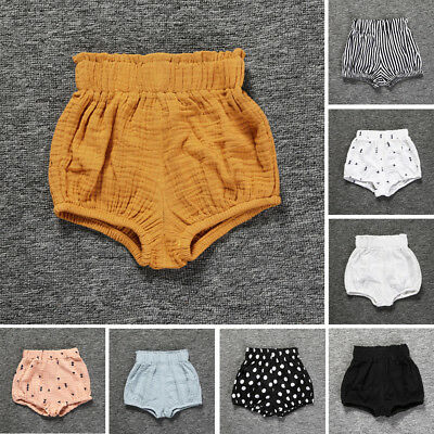 0-5Yrs Infant Baby Boy Girls Kids Soft Pants Shorts Bottoms PP Bloomers Panties