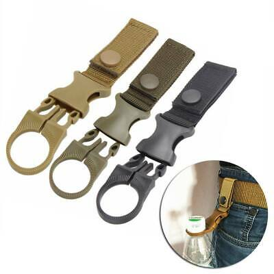 EDC Molle Water Bottle Holder Buckle Hook Clamp Clip For Camping Climbing Travel