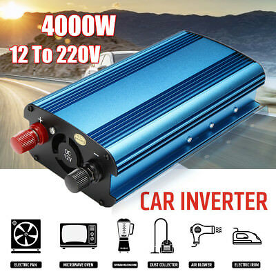 Car 2000W/4000W converter power inverter DC 12V to AC 240V invertor USB Ports