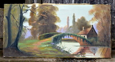 Antique French Painting Antique French Oil on Canvas Painting from Provence