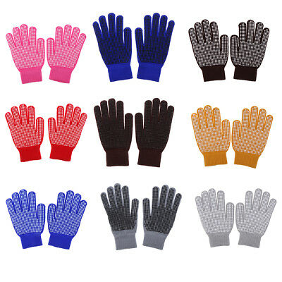 Horse Riding Hands Protection Gloves with Pimple Palm Grip for Kids Ladies