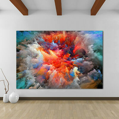 Abstract Cloud Living Room Painting Classical Canvas Print wall art home decor