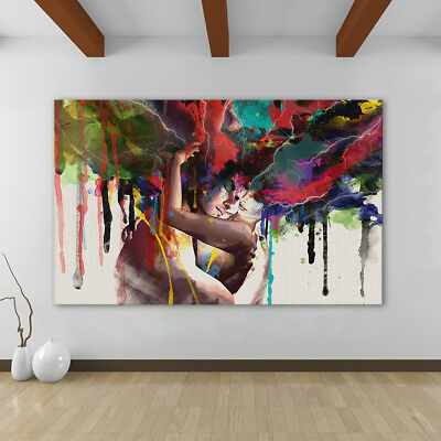 Couple Abstract Living Room home decor Painting Classical Canvas Print wall art