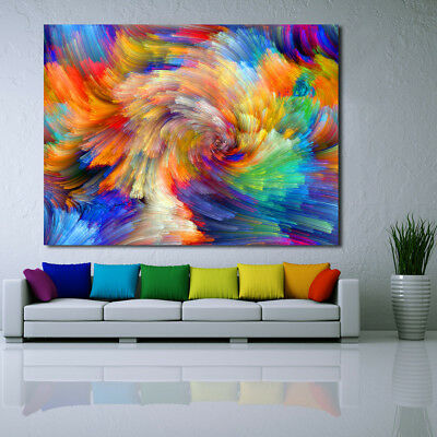 Abstract cloud colorful Love Painting Classical Canvas Print wall art home decor