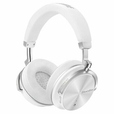 Bluedio T4s Active Noise Cancelling Bluetooth Headphones Over Ear Mic White